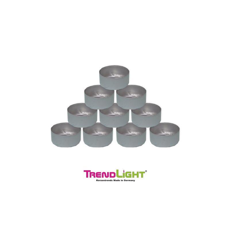 teelichth llen alu silber 50 st ck 39x19 mm trendlight kerzen marken kerzen und bastelartikel. Black Bedroom Furniture Sets. Home Design Ideas